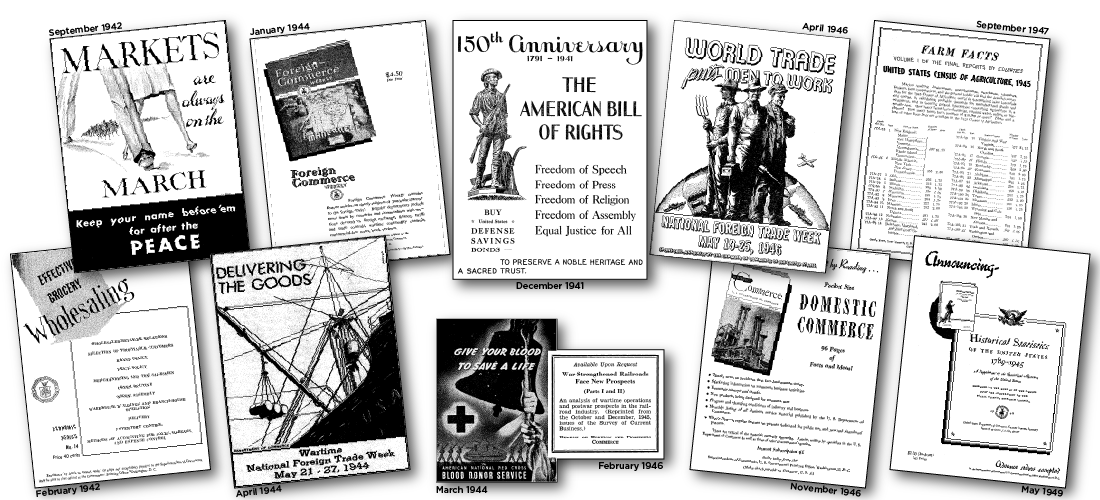 Advertisements featured in the SCB during the 1940s