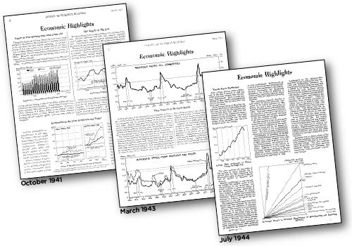 Three pages of Economic Highlights